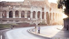 Coliseum is one of the most #mustsee places in #Rome  This is a perfect venue to take pre-wedding and #engagement photos in Rome. #Romephotography