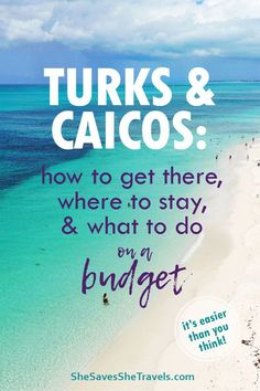 The best Caribbean island to go to on a budget: Turks and Caicos! We stayed on Providenciales for wa Family Vacation Destinations, Travel Destinations, Best Honeymoon Destinations, Vacation Deals, Family Vacations, Travel Deals, Vacation Spots, Budget Travel, Travel Tips