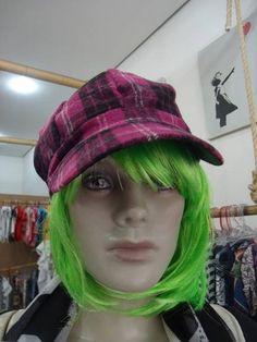 Boina Xadrez Rosa R$ 46,00  www.elo7.com.br/dixiearte
