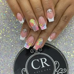 Nail Spa, Manicure And Pedicure, Ombre French Nails, Stiletto Nails, Summer Nails, Nail Designs, Designed Nails, Gorgeous Nails, Work Nails