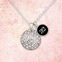 Custom Number Volleyball Necklace 54516 by ShopCharmingCollect Volleyball Senior Gifts, Volleyball Necklace, Bangle Bracelets, Bangles, Numbers, Pendant Necklace, Unique Jewelry, Handmade Gifts, Silver