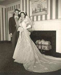 Vintage Brides — 1950 newlyweds