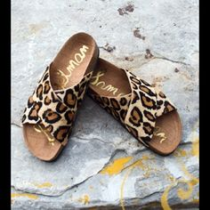 """SAM EDELMAN """"adora"""" leopard print sandal The most comfortable sandal ever!!! Leopard print calf hair. Wore to my sons friends birthday party (where I basically sat and watched them play games) so they are in excellent condition. Comes with box. PRICE IS FIRM Sam Edelman Shoes Sandals"""