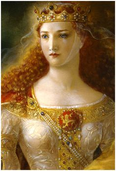 Eleanor of Aquitaine...The only woman to be a Queen of both England and a Queen of France. Always loved this painting of her. It has been on my desk for many years. Discovered she's a direct ancestor. Awesome!