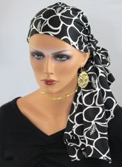 The Beaubeau in Black and Bloom available for $62.99 at Comfort Caps. Call 585 (472) 6871 for details