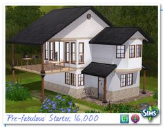 Sims 3 Balcony/Terrace House