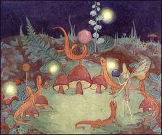 1932 FAIRY CIRCUS Dorothy Lathrop Fairyland Newts Salamanders Performing Balancing Acrobatics Original First Print Book Art Illustraton Ink Illustrations, Children's Book Illustration, Fairy Land, Fairy Tales, Zany Zoo, Unicorn And Fairies, Book Of Circus, Mary Blair, Kay Nielsen