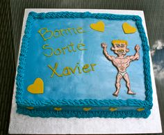 """A """"get better soon"""" or """"Bonne Santé"""" cake for ever so healthy Xavier who unfortunately got pneumonia but is getting better."""