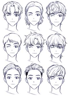 ▷ 1001 + ideas on how to draw anime - tutorials + pictures face drawing, from different angles, anime girl drawing, black and white, pencil sketch Art Drawings Sketches Simple, Cute Drawings, Drawing Tips, Anime Drawing Tutorials, Hair Drawings, Anime Drawing Styles, Hair Styles Anime, Drawing Hair Tutorial, Manga Tutorial