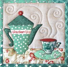Tea Time trivet pattern by Patchwork Pottery