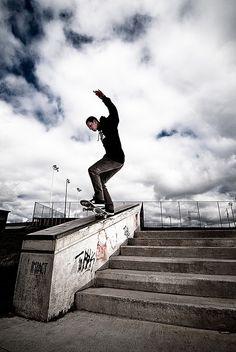skate boarding