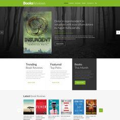 Book Reviews Responsive Website Theme