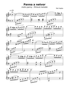 Panna a netvor Free Sheet Music, Piano Sheet Music, Petra, Work Hard, How To Get, Cello, Pdf, Working Hard, Cellos