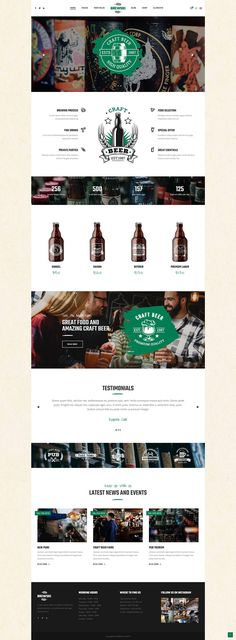 Brewski - Pub and Brewery Theme - Cheers to Brewski, a WordPress theme made for craft beer, pubs and beer shops! Beer Bottle Crafts, Craft Beer Gifts, Craft Beer Labels, Wine Labels, Craft Beer Wedding, Web Design, Layout Design, Graphic Design, Beer Shop