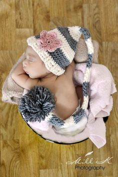 Newborn Baby  Stocking Hat     Great Photo Prop by EternallyHooked, $24.00