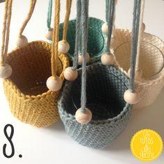 Tuto : Suspensions au crochet pour plantes façon Macramé - Très facile