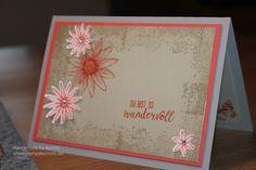 Stampin up, Timeless texture, Dreierlei Blüten, so dankbar