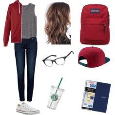 Mar 2020 - A fashion look from July 2015 by bulldoggrl featuring MANGO, Anine Bing, Converse, JanSport and NIKE Converse Outfits, Tomboy Outfits, Tomboy Fashion, School Fashion, Teen Fashion, Casual Outfits, Fashion Outfits, Nike Converse, Nike Fashion