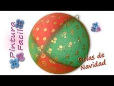 Adornos de Navidad 2014 Esferas Navideñas *Painting Christmas Balls* Bolas de Navidad Pintura Facil