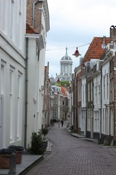 Middelburg, Spanjaardstraat Or Spanish street. Runs into Singelstraat where mum and dad lived . The Beautiful Country, Beautiful Places, Great Places, Places To See, Places Around The World, Around The Worlds, Leiden, Street Photo, Cityscapes