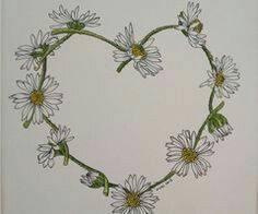 Daisy chain love heart