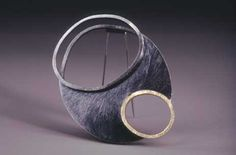 "Susan Skoczen - Quadruple - 2002 brooch sterling silver, 18k gold 2.75"" x 2.75"" x 0.75"""