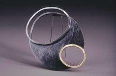 """Susan Skoczen - Quadruple - 2002 brooch sterling silver, 18k gold 2.75"""" x 2.75"""" x 0.75"""""""