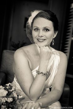bride headshot grayling jewelry birdcage veil