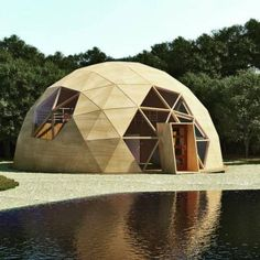 Geodesic dome home - dome house Glamping, Bubble House, Dome Structure, Geodesic Dome Homes, Dome Greenhouse, Woodland House, Geometric Sculpture, Luxury Tents, Visualisation