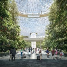 The Safdie Architects-designed Jewel Changi Airport in Singapore is due to start construction before the New Year, the practice has confirmed. This ambitious sq m expansion project at Changi Airport was first announced in August 2013 however Museum Architecture, Green Architecture, Futuristic Architecture, Amazing Architecture, Landscape Architecture, Creative Architecture, Sustainable Architecture, Landscape Design, Ville Durable