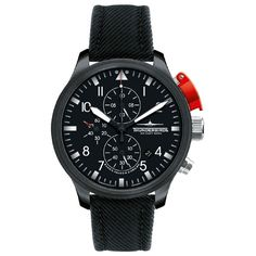Reference:TB1066/2-T01 Black edition chrono                                                           Movement:PTS 2500 Automatic                                          Diameter:45mm                                         Water resistence: 5 ATM                                    Description: Stainless steel case with IP coated, PPS-system in Aluminium, DFC-mineral glass,Chronograph.                                              Strap:leather strap. Available at www.chronowatchcompany.com