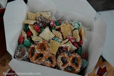 Christmas Candy Crunch in under 15 minutes :: HoosierHomemade.com