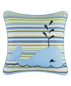 Another great find on #zulily! Stripe Whale Throw Pillow #zulilyfinds