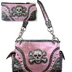 Light Pink Skull Studded Concealed Purse W Matching Walle... https://www.amazon.com/dp/B01M9D6Z5I/ref=cm_sw_r_pi_dp_x_sVpZzb2Y1SP7C
