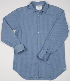 This ain't your daddy's seersucker. The Badine Light Blue Pucker is the shirt you wear to show an ex you're done with her. Haspel clothing is made for the modern man seeking quality suits, polos, shirts, ties, shorts, formal wear and seersucker.