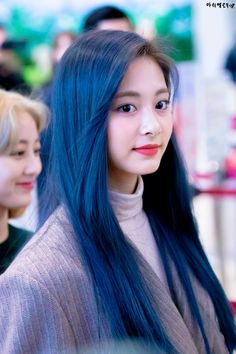 Welcome to twicepictures. Your daily source for pictures of twice South Korean Girls, Korean Girl Groups, Kpop Hair Color, Chou Tzu Yu, Tzuyu Twice, Forever Yours, Dahyun, Blue Hair, Kpop Girls