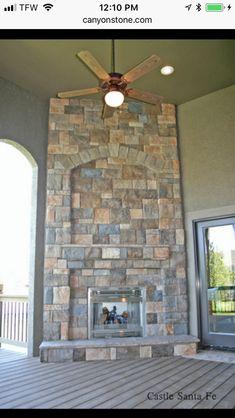 Exterior Design, Interior And Exterior, Tv Above Fireplace, Brick Masonry, Enclosed Patio, Stone Panels, Stone Cladding, Stone Veneer, Brick And Stone