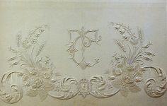 exquisite embroidered monogram