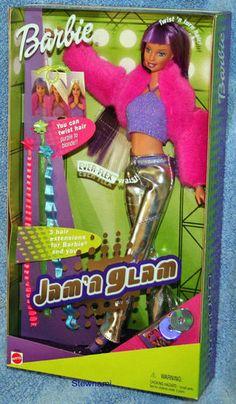 2001 Barbie Jam N Glam Doll Ever Flex Body Twist N Turn Hair Mattel | eBay