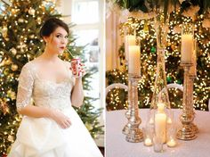 Swooning for this black tie Christmas wedding via @BelleMagazine.