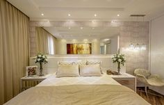 revestimento de parede quarto de casal papel de parede iara kilaris