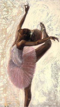 New black art girl paintings Ideas Black Love Art, Black Girl Art, Art Girl, Ballerina Art, Ballet Art, Black Ballerina, Ballet Dancers, Black Art Painting, Black Artwork