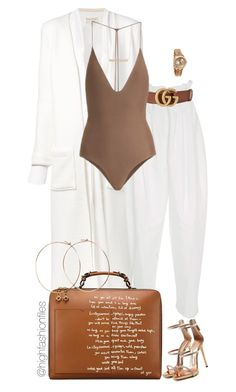 """Untitled #2774"" by highfashionfiles ❤ liked on Polyvore featuring Sabine Luise, Adeam, Gucci, Rolex, Jade Swim, Tory Burch, Jennifer Creel, Giuseppe Zanotti and Monique Péan"