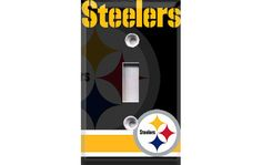 Pittsburgh Steelers - Style 2 Light Switch Plate Cover. $6.99, via Etsy.