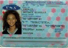 Beyoncé passport
