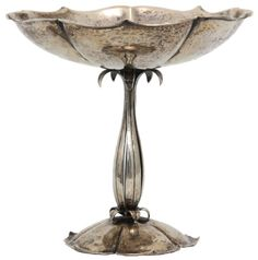 Arts & Crafts Sterling Silver Compote