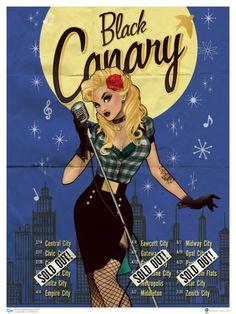 Mulheres do Universo DC como Pin-Ups dos anos 40 : Garotas Geeks