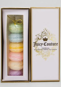 Juicy Couture Monogram Vanilla Scented Macaron Tea Light Candles