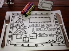 FREE Christmas Coloring Placemat