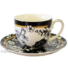 chinese teacup and saucer set | Brocade Fine China Tea Cup and Saucer £9.00 AmysGifts.co.uk